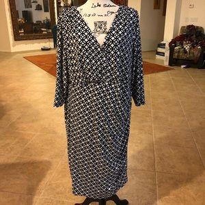 Lauren Ralph Lauren faux wrap dress size 24